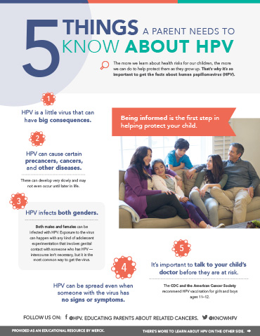 Download the HPV Fact Sheet for When You Talk to Your Child's Doctor